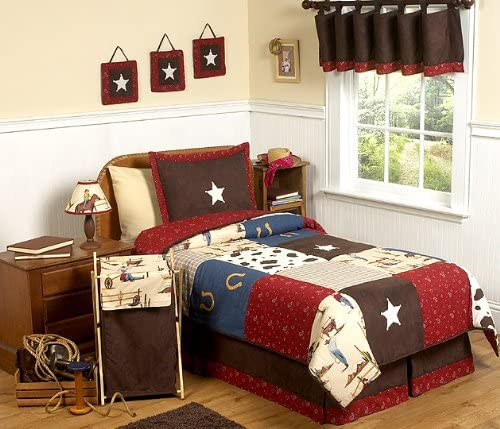 B001F6Z6SO Sweet Jojo Designs Wild West Cowboy Western Children's Bedding 3pc Full/Queen Set 51fwzL2ct-L.