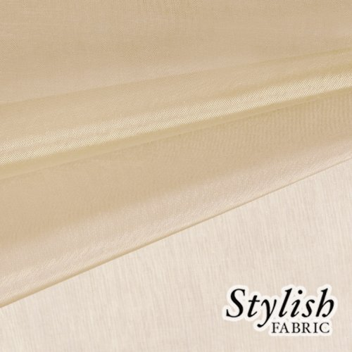 59' Champagne Organza Fabric by the Bolt - 10 Yards
