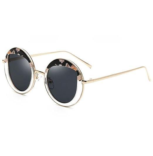 Wmshpeds Trend der Mode Sonnenbrille, Koreanische Version von Metall Brillen, Sonnenbrillen runde box Frauen