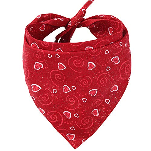KZHAREEN Valentine's Day Dog Bandana Reversible Triangle Bibs Scarf Accessories for Dogs Cats Pets