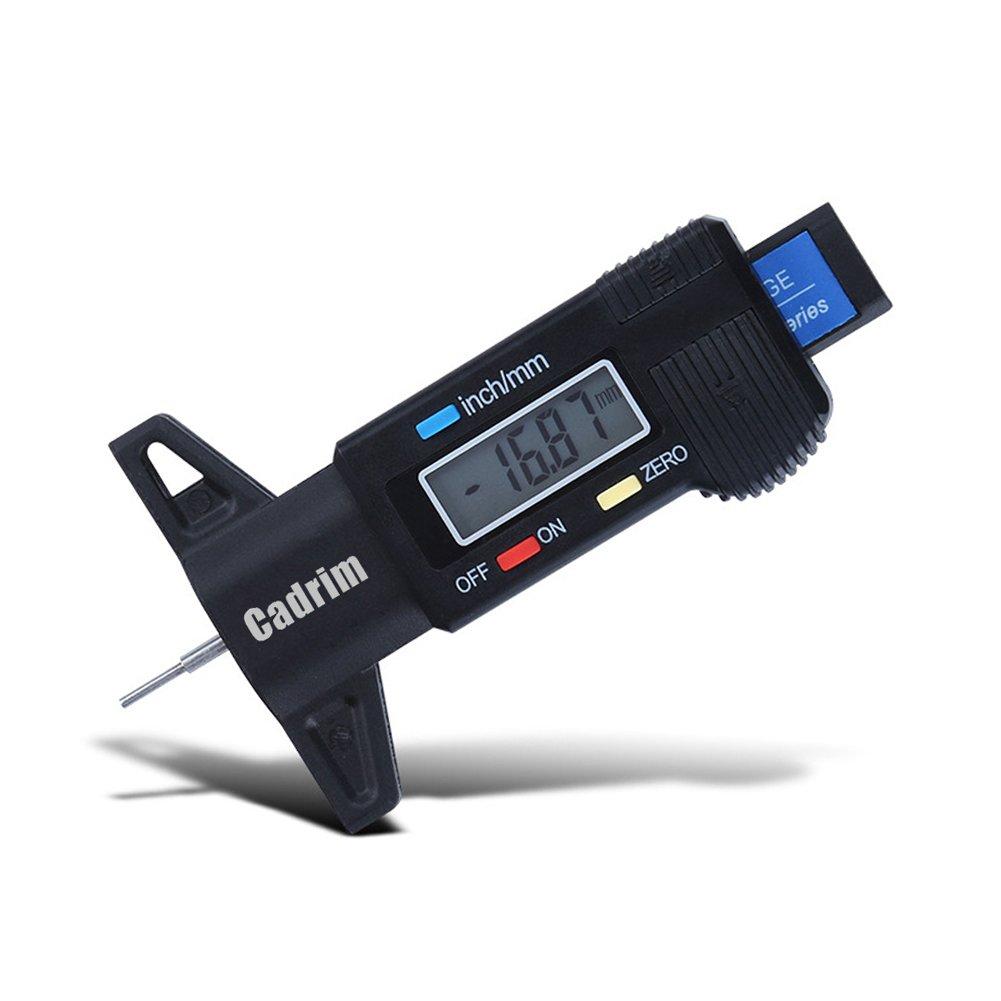 Cadrim Jauge de Pression de Pneu Numérique,230PSI RV Double Tête pour Camion, Voiture,Moto avec Grand écran LCD Rétroéclairé et Lampe de Poche 230PSI RV Double Tête pour Camion