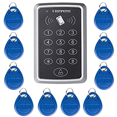 UHPPOTE 125KHz Single Door Proximity RFID Card Access Control Keypad Include EM-ID Keyfobs from UHPPOTE
