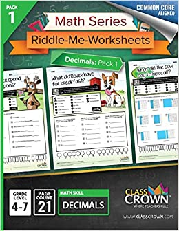 Amazon com: Math Series: Riddle-Me-Worksheets - Decimals