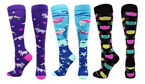 MadSportsStuff Good Kitty Socks Cat Lover Socks Combo Pack (3 Pack-Multi, Small) ()