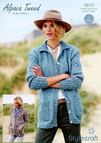 a15105757 Image Unavailable. Image not available for. Colour  Stylecraft Ladies  Cardigans Alpaca Tweed Knitting Pattern ...