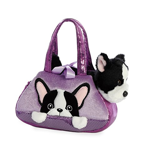 Aurora World Fancy Pals Peek-A-Boo Purse Pet Carrier French Bulldog