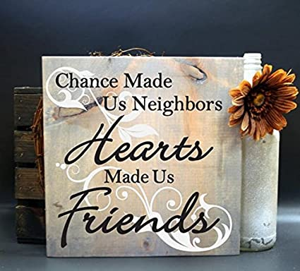 764611650cf45 Amazon.com: Neighbor Gift Quote Sign, Thank You Gift for Neighbors ...
