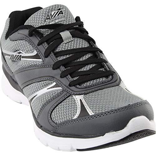 Avia Men's avi-Modus Running Shoe, Frost Iron Grey/Black/Chrome Silver, 8.5 2E US