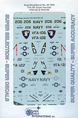 SuperScale Decals 1:48 F/A-18F Super Hornets VFA-102 VFA-106 (18f Super Hornet Model)