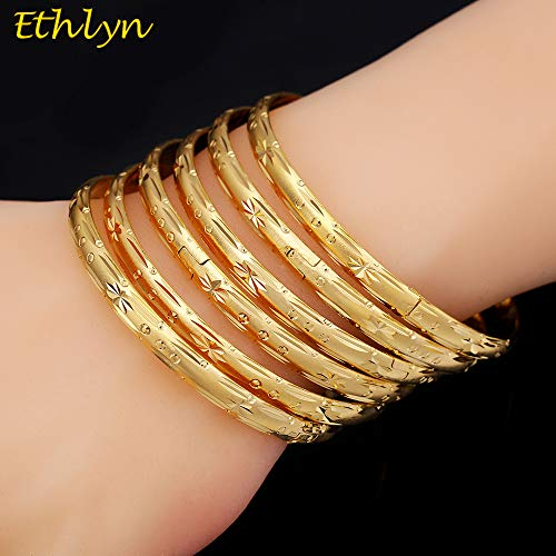 African Dubai Gold Bracelets | Women Decoration Bangle (6Pcs/lot)