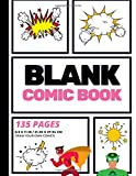 Blank Comic Book: Create Your Own Comic Strip, Blank Comic Panels, 135 Pages, Pink (Large, 8.5 x 11 in.) (Action Comics) (...