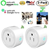 MaximalPower Smart Plug Wi-Fi Enabled Mini Outlet Compatible with Alexa Google Home, No Hub Required WiFi Remote Control your Devices Anywhere Timing Function Switch with Free Microfiber Cloth