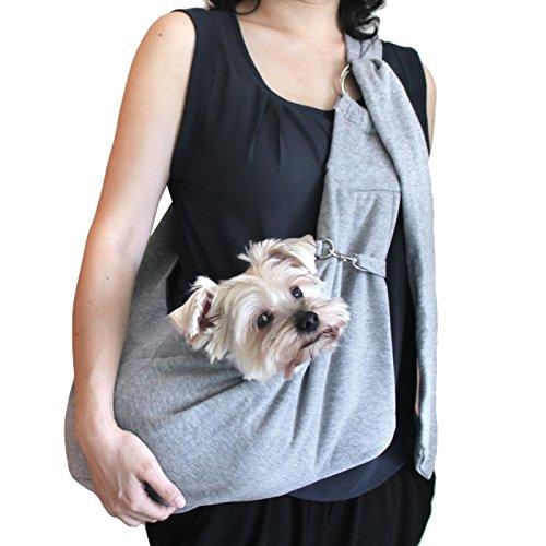 viewing(《―인구》) 소형견 용강아지 포옹뉴 끈 백스 링 백 슬링(sling) 애완동물 PET 캐리 캐리어 데님 or 코튼 견유길이 조정 가능 타입 (코튼・그레이)