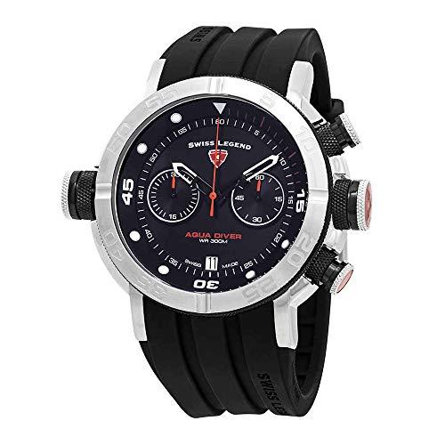 - Swiss Legend Aqua Diver Chronograph Black Dial Watch SL-10622SM-01-BB-OA