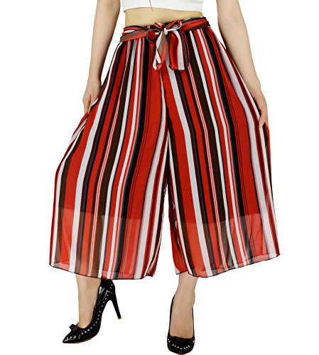 Stripe Cropped Trousers - 5
