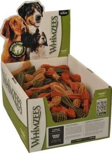 Whimzees Toothbrush, Small, for dogs, 150-Count Box