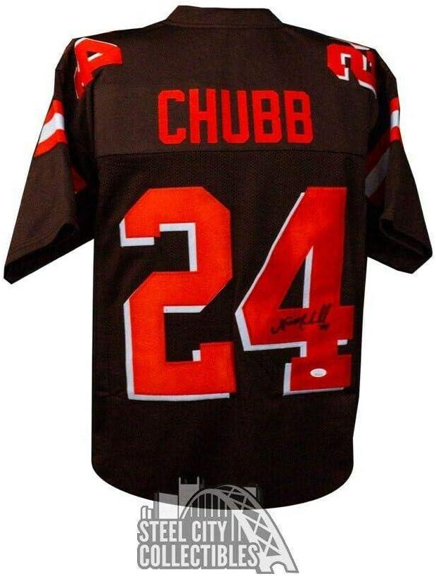 JSA Authentic Nick Chubb Autographed Cleveland Browns Color Rush ...