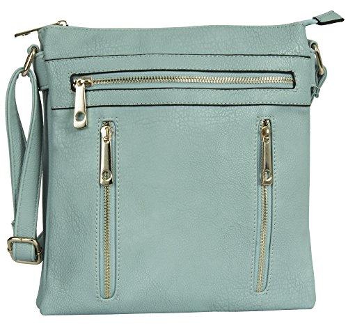 Messenger Bag Handbag 2 Shop Shoulder Womens Cross Medium Compartment Design Size Body Baby 3 Blue Big qXdfzxFwz