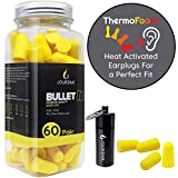 Ear Plugs for Sleeping Block Out Snoring w/ Premium Thermo Foam Noise Reduction and Cancelling Earplugs for Shooting Range Sleeping Loud Events Construction Working Studying by Jourdak NRR 33db 60Pair