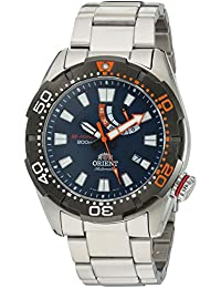 Men's 'M-Force Bravo' Japanese Automatic Stainless Steel Diving Watch, Color:Silver-Toned (Model: SEL0A002D0)