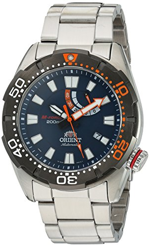 Orient Men's 'M-Force Bravo' Japanese Automatic Stainless Steel Diving Watch, Color:Silver-Toned (Model: SEL0A002D0) by Orient