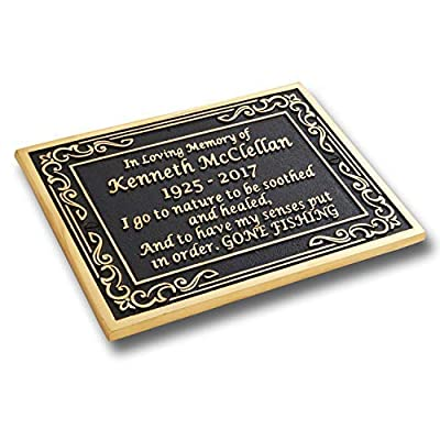 Custom Brass Memorial Plaque to Commemorate The Memory of Your Loved One. Hand Made in England: Home & Kitchen