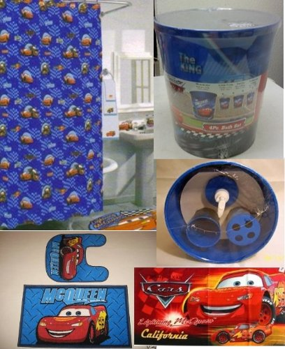 Amazon.com: 20 Pc Disney Cars Lightning Mcqueen Bathroom Set: Home ...