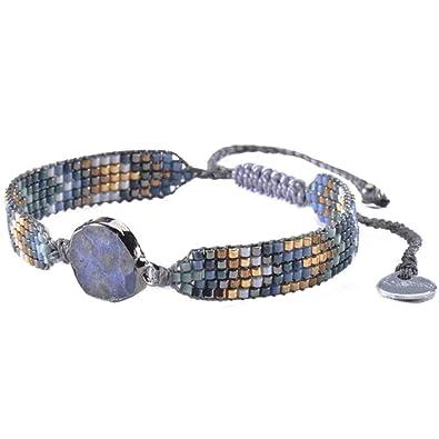 nouveaux styles ec18c fd3c9 Amazon.com: Mishky Rossy Beaded Bracelet with Adjustable ...