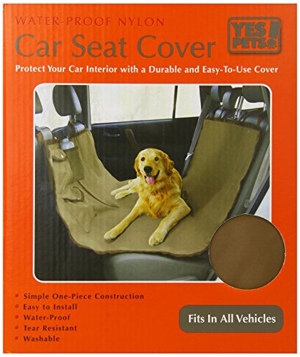 Yes Pets Oxford Hammock Style Water-Proof Pet Car Seat Cover for Cars, Trucks and SUVs