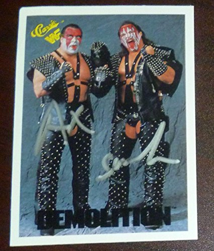 (Demolition Ax & Smash Signed 1990 Classic WWF Card 6 WWE Pro Wrestling Autograph - Autographed Wrestling Cards)