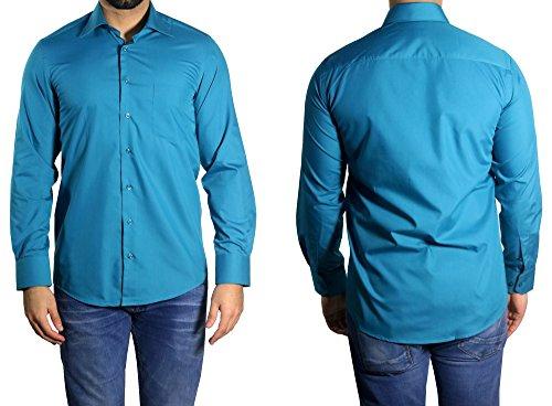 MUGA -  Camicia classiche  - Basic - Classico  - Maniche lunghe  - Uomo nero Large