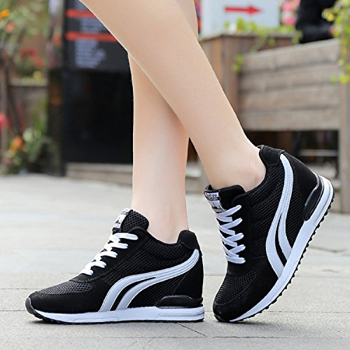Hidden Mesh TQGOLD Tennis Sneakers Lightweight High Womens Black Heeled Casual Shoes Shoes Walking Chic Wedges Aq1gw