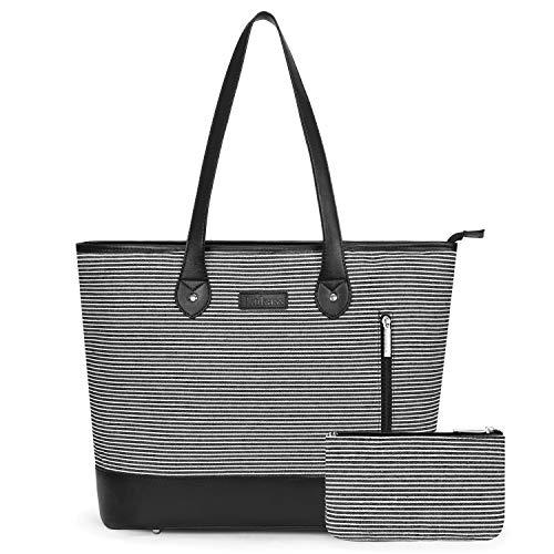 Large Briefcase Tote - LOKASS Laptop Tote Bag for Women Large Shoulder Bag Lightweight Briefcase