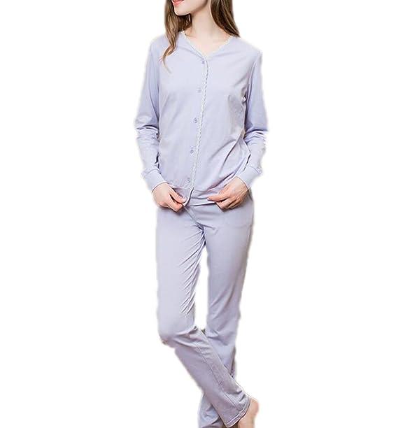 Camisa De Manga Larga Con Cuello Barco Para Mujer Pantalones De Cintura Elástica Conjunto De Pijamas