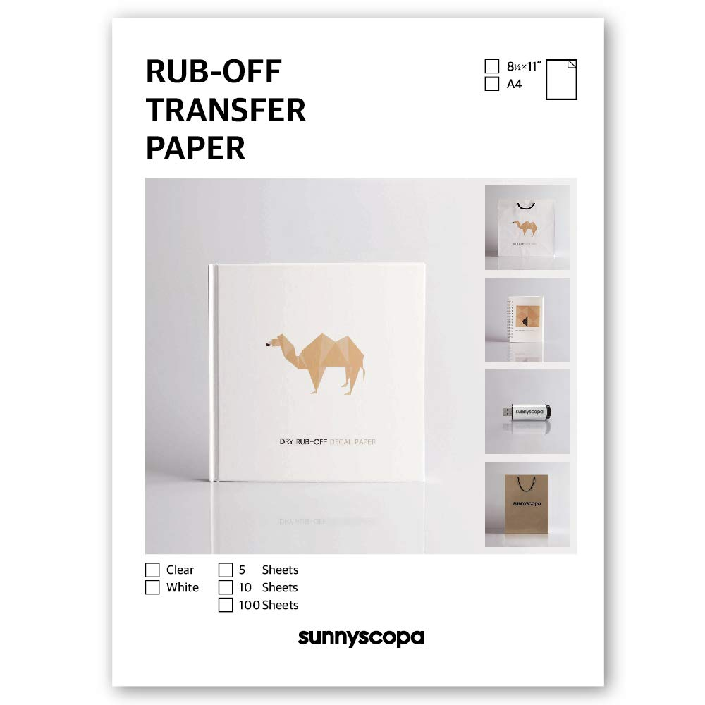 Sunnyscopa Inkjet Rub-off Transfer Paper (Clear, 5 sheets) by Sunnyscopa