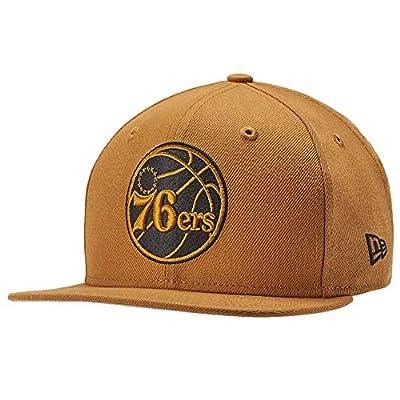 New Era NBA Philadelphia 76ers 9FIFTY Panama Lifestyle Snapback Cap, Adjustable Hat Yellow