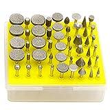 Anncus 50 PCS Diamond Grinding Head Large Grinder Rotary Tool Set Grinding Cutting Head Drill Bits Metal Carving Polishing Tool Sets