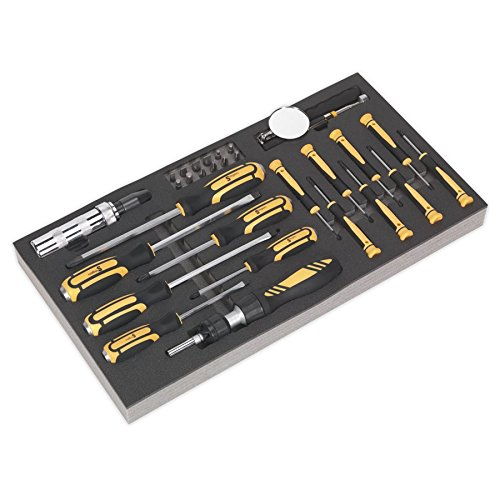 Sealey S01128 Tool Tray with Screwdriver Set 36pc