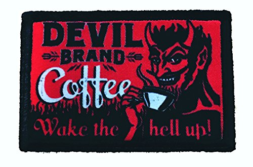 Devil Brand Coffee Funny Tactical Military Morale Patch 2x3