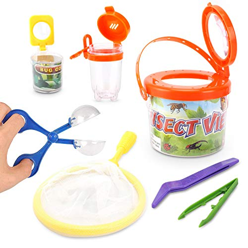 Liberty Imports Little Backyard Explorer Outdoor Toy Insect Adventure Set | Bug Catcher Viewing Collection Kit (7 Pieces)