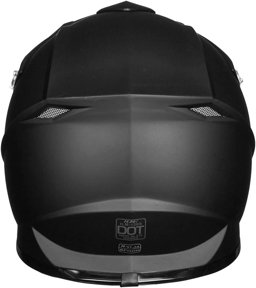 ILM Adult Youth Kids ATV Motocross Dirt Bike Motorcycle BMX MX Downhill Off-Road Helmet DOT Approved RED Black, Youth-M