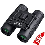 Small Binoculars for Kids and Adults, 10x22 Pocket Palm-size Binocular Telescope, Portable Compact Folding Binoculars with High Magnification for Bird Watching, Outdoor Hunting,Sightseeing