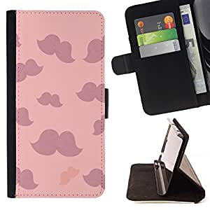 Momo Phone Case / Flip Funda de Cuero Case Cover - Violet Nuages ??minimaliste - Samsung Galaxy A5 ( A5000 ) 2014 Version