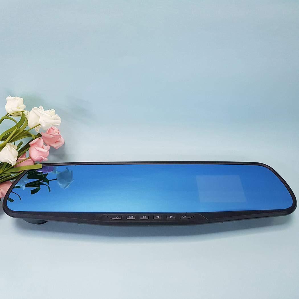 Anstsy Espejo retrovisor del Coche C/ámara de la grabadora de conducci/ón 1080P Espejo Azul antideslumbrante de 2.8 Pulgadas Sistemas de v/ídeo para retrovisor