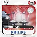 Philips H7 X-tremeVision Upgrade Headlight Bulb, 2 Pack