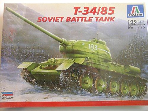 (Italeri Models---Soviet WW II T-34/85 Battle Tank---Plastic Model Kit)