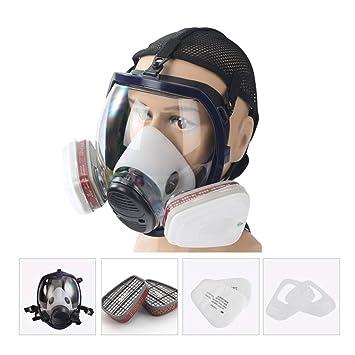 WEISHAZI kit de respirador facial de cara completa máscara de gas para pintar spray Pesticida Protección contra incendios químicos: Amazon.es: Hogar