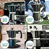 GROSCHE Milano Stovetop Espresso Maker Moka Pot 9