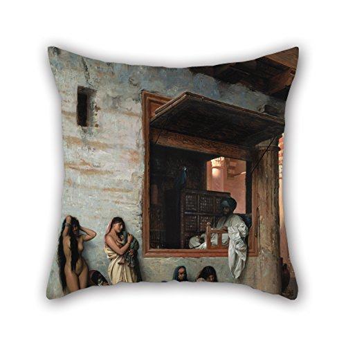 Artistdecor Oil Painting Jean-Léon Gérôme - The Slave Market Cushion Cases 16 X 16 Inches / 40 By 40 Cm For Husband,outdoor,dance Room,monther,saloon,him With Two (10th Doctor Dress)