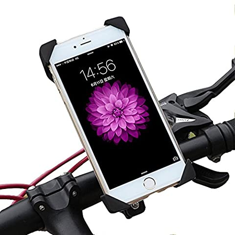 Bike Mount,EMIUP Universal Cell Phone Bicycle Handlebar & Motorcycle Holder Cradle with 360 Rotate for iPhone 6s 6 5s 5c 5,Samsung Galaxy S5 S4 S3, Google Nexus 5 4 and GPS Device Up to 3.7in (I Phone 5c Cell Phone)